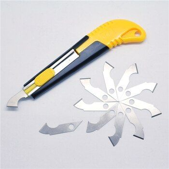 DWZ PVC Acrylic Plastic Sheet Perspex Cutter Hook Cutting Tool With 10 Spare Blades