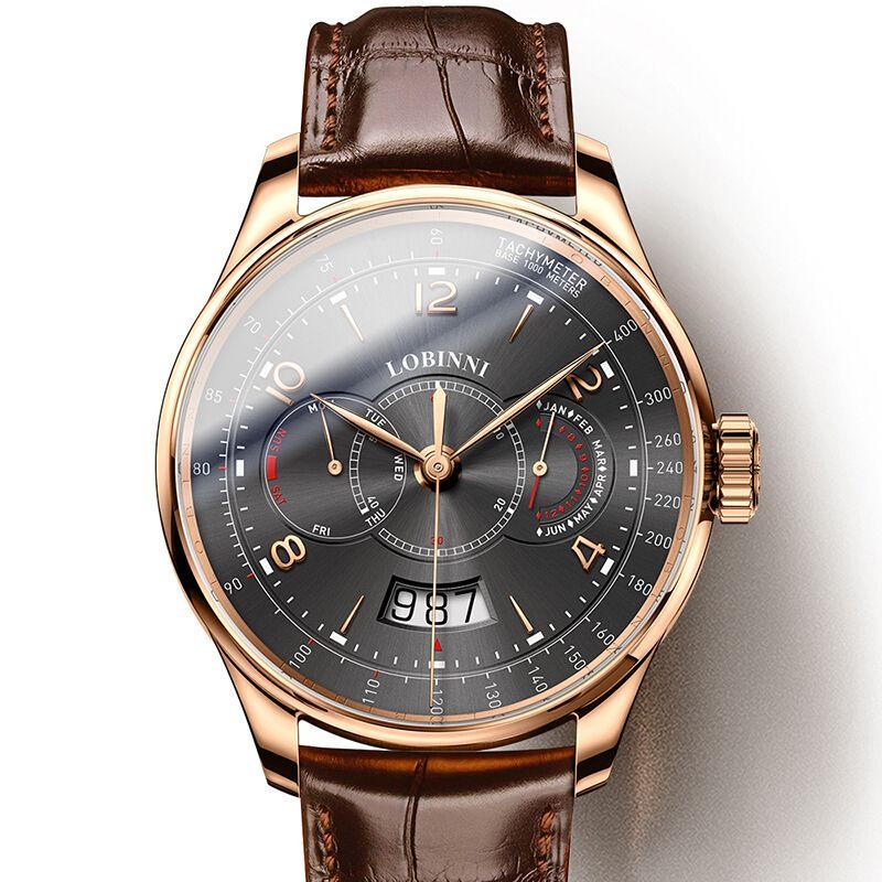 Schweiz LOBINNI Männer Uhren Luxus Marke Uhr Männer Sapphire Wasserdicht Miyota Automatische Mechanische Armbanduhren L16013-2