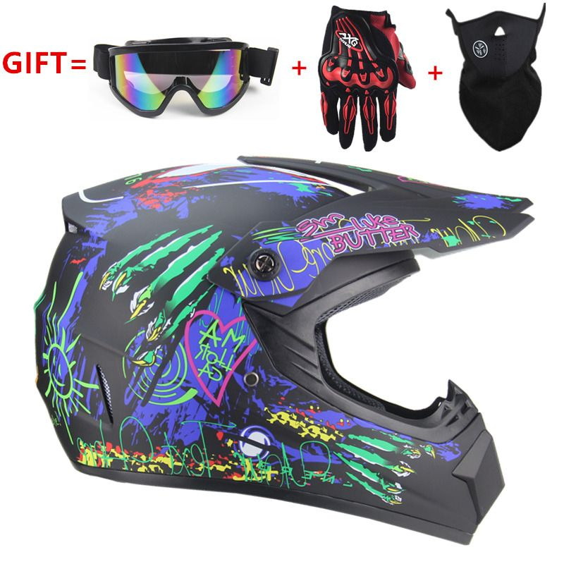 Moto adulte motocross hors route casque vtt Dirt vélo descente vtt DH casque de course cross casque capacetes