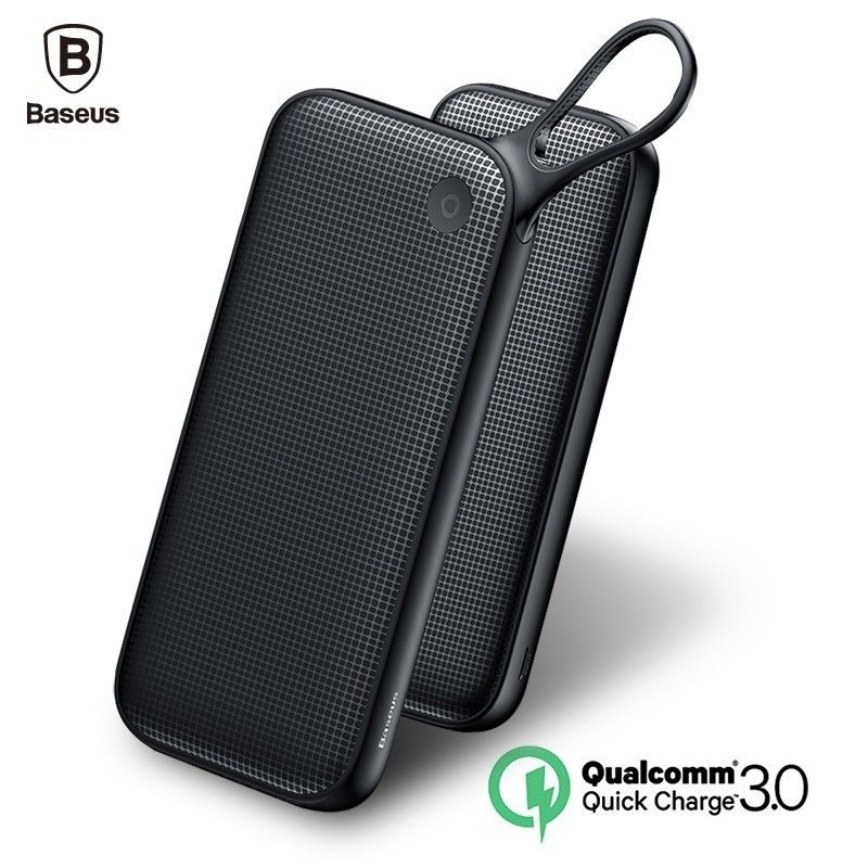 Baseus 20000mAh Quick Charge 3.0 Power Bank Dual QC3.0 18W Type C PD Poverbank Fast Charging External Battery Charger Powerbank