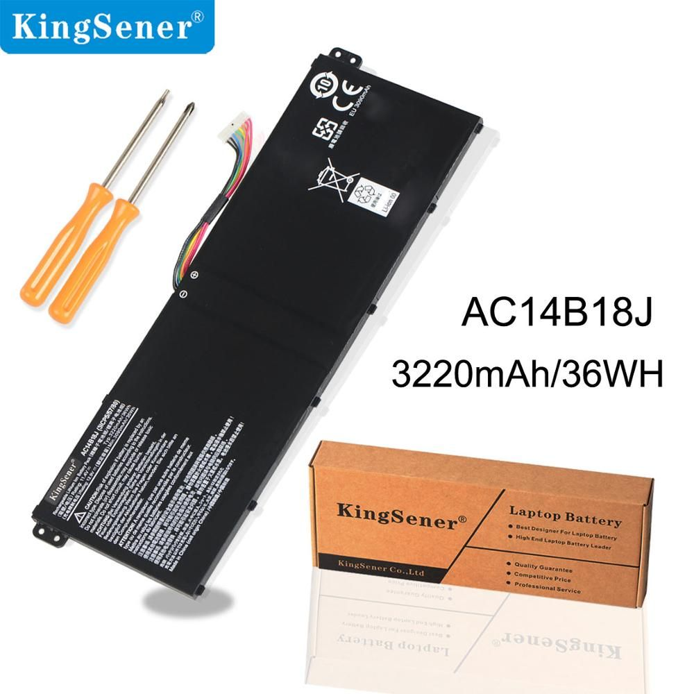 KingSener AC14B8K AC14B18J AC14B13J batterie d'ordinateur portable pour Acer Aspire E3-111 E3-112 E3-112M ES1-511 V3-111P CB3-531 TravelMate B115