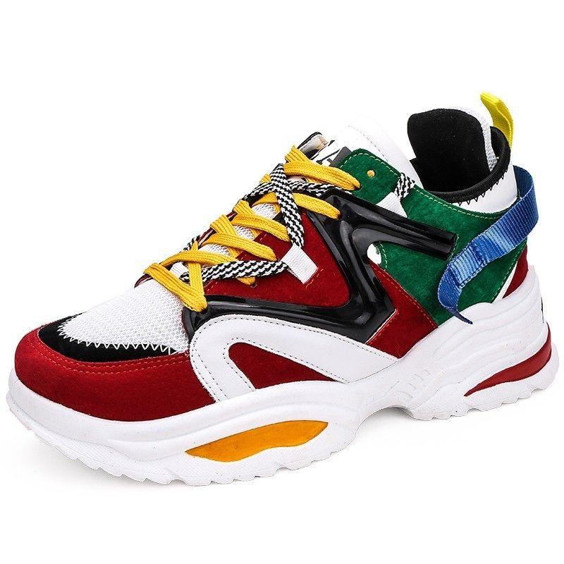Chaussures décontractées hommes respirant baskets haute qualité adultes Masculino nouvelle tendance mode pas cher à lacets couleur assortie Zapatilla