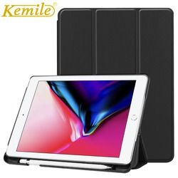 Kemile Case untuk Baru Ipad 2018 PU Kulit Slim Smart Case Tempat Pensil Bangun Tidur Cover For New iPad 2018 9.7 Case A1893 A1954