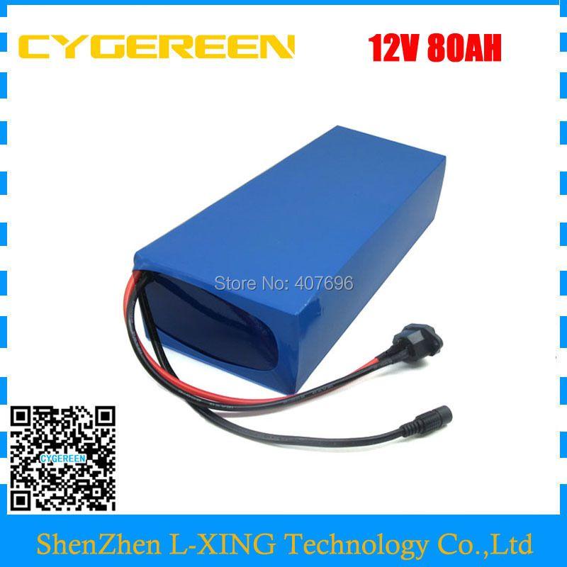 500 W 12 V 80AH batterie 12 Volt 80AH 80000 MAH lithium-ionen ebike batterie 50A BMS für 12 V 3 S Ebike Batterie 12,6 V 5A ladegerät