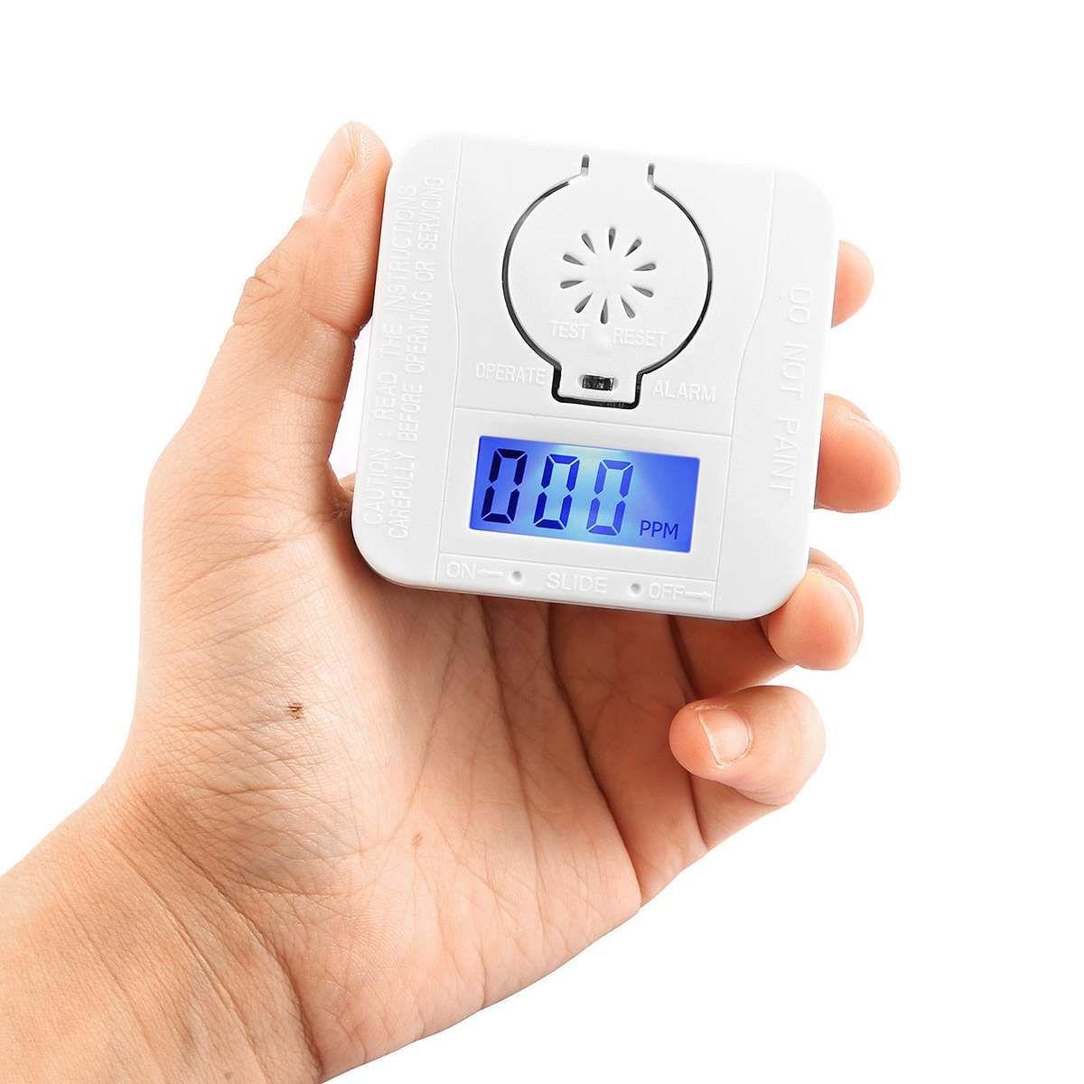 CO Kohlenmonoxid Rauchmelder Alarm Vergiftung Gas Warnung Sensor Sicherheit Vergiftung Alarm LCD Infrarot-lichtschranken