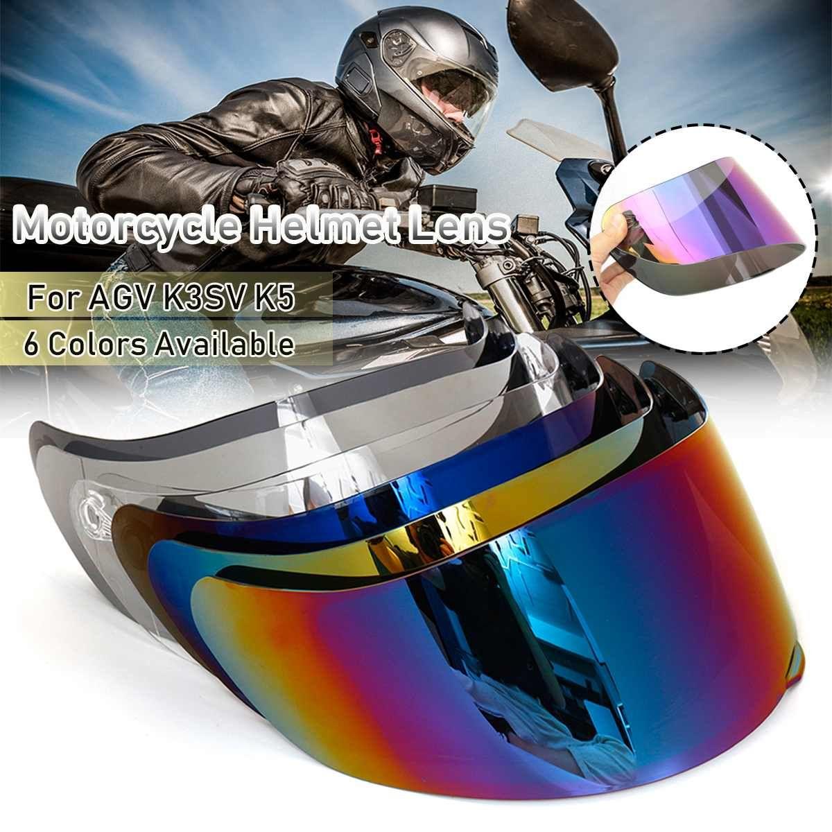 Helm visier für AGV K5 K3 SV Motorrad Abnehmbare Helm original gläser für agv k3 sv k5 motorrad helm Objektiv volle gesicht