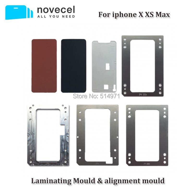 Novecel For iPhone X XS Max Laminating Moulds for Bubble-free Laminating Machine LCD Screen Laminator Moulds&Rubbers