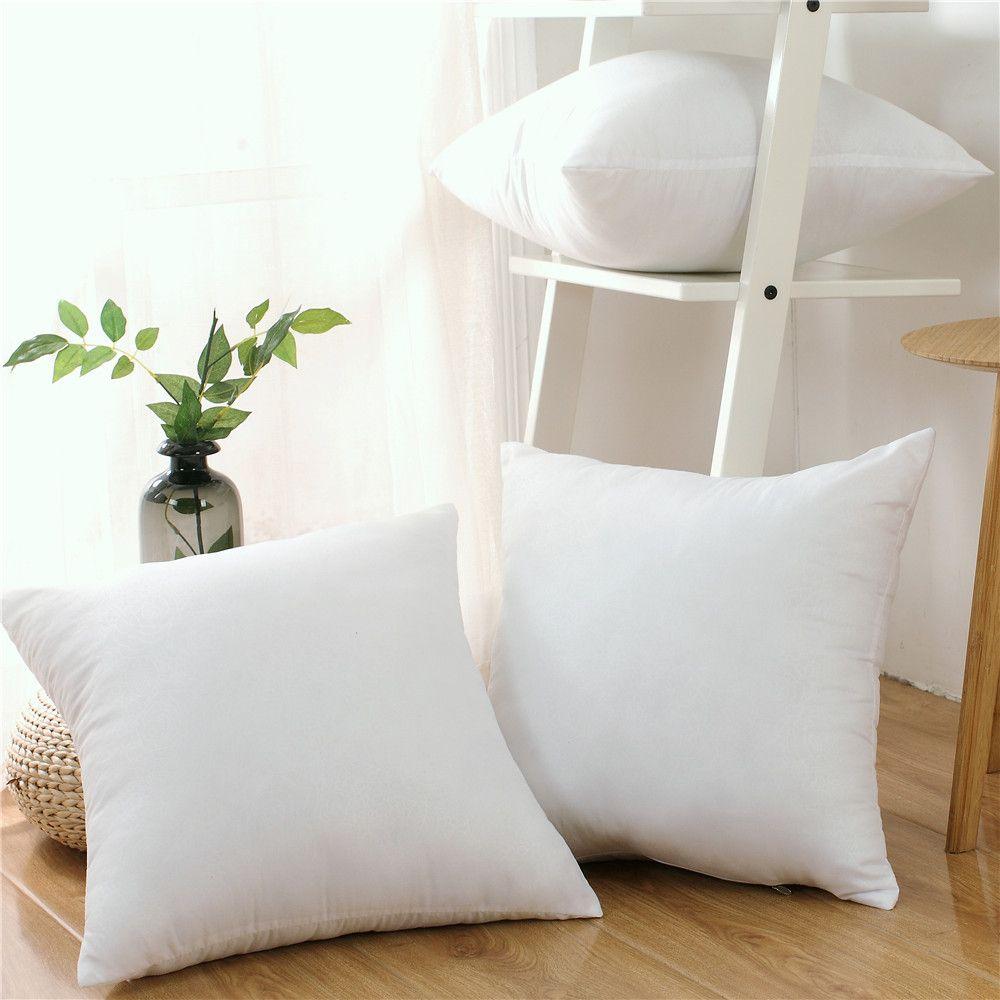 2 pièces ensemble classique oreiller coussin noyau coussin intérieur remplissage doux jeter siège oreiller intérieur voiture décor à la maison oreillers 45X45CM