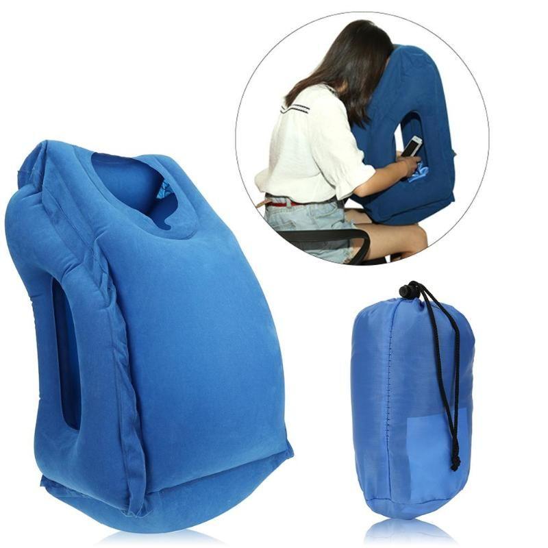 Oreiller de voyage gonflable Air doux coussin voyage Portable innovant corps dos soutien pliant coup cou protéger oreiller