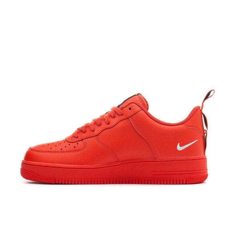 Nike Air Force 1 AF1 Männer Skateboard Schuhe Helle Rot Dekonstruktion Einfache Version Freizeit Zeit Turnschuhe # AJ7747-800