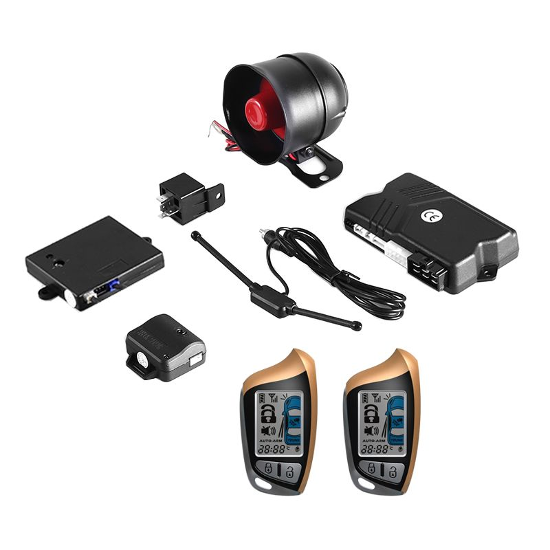Two-Way Remote Start OEM SPY Car Alarm Security System with Keyless Entry Central door Locking Trunk Release starline