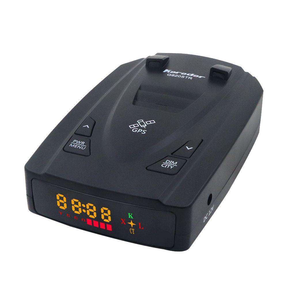 Détecteurs de Radar Karadar G820STR Led détecteur de Radar 2 en 1 pour La russie avec GPS voiture Anti Radars Police vitesse Auto X CT K La
