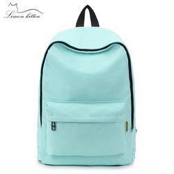 Fashion Backpack Women Backpack Solid Color Travel Casual School Bag For Teenage Girl New Bagpack Female Rucksack Knapsack 2019