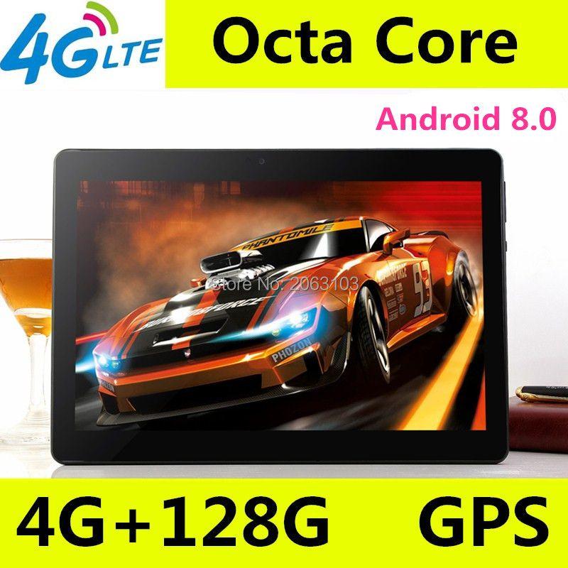 10 zoll tablet pc Octa-core 3g 4g LTE Tabletten Android 8.0 RAM 4 gb ROM 128 gb Dual SIM Bluetooth GPS Tabletten 10,1 zoll tablet stücke