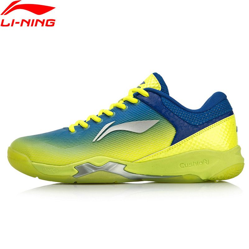 Li-Ning Männer ANGRIFF Professionelle Badminton Training Schuhe Kissen Tragbare Futter BOUNSE + Sport Schuhe Turnschuhe AYZN005 XYY099