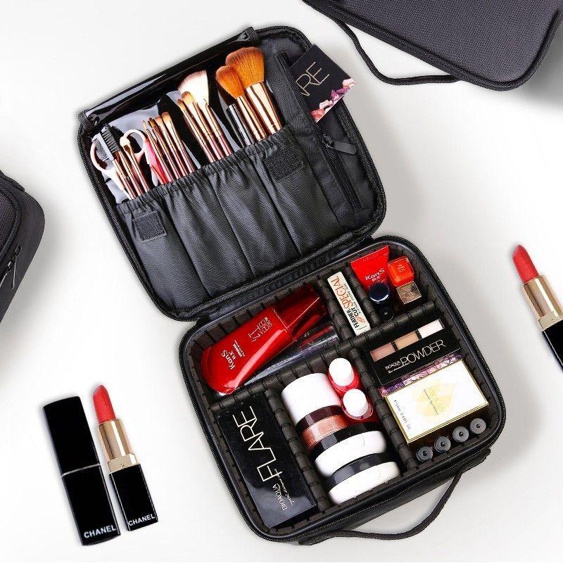 2019 trousse de toilette professionnelle sac cosmétique organisateur femmes voyage maquillage cas grande capacité cosmétiques valises pour maquillage X32