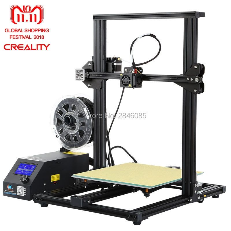 Hot 3D Printer Creality 3D CR-10S,Dua Z Rod Filament Sensor/Detect Resume Power Off 3D Printer DIY Kit