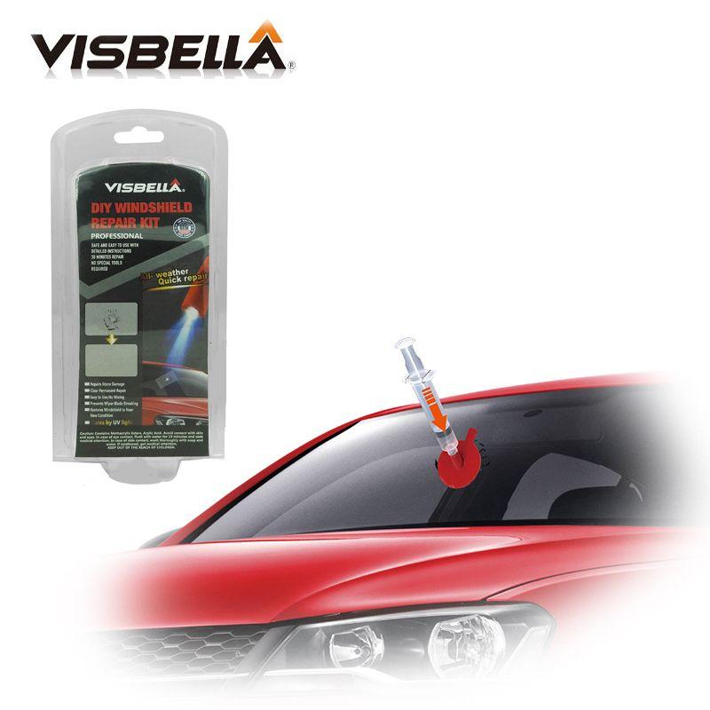 VISBELLA Kit de réparation de pare-brise voiture fenêtre réparation polissage pare-brise verre outil de renouvellement Auto rayure puce fissure restauration Fix bricolage