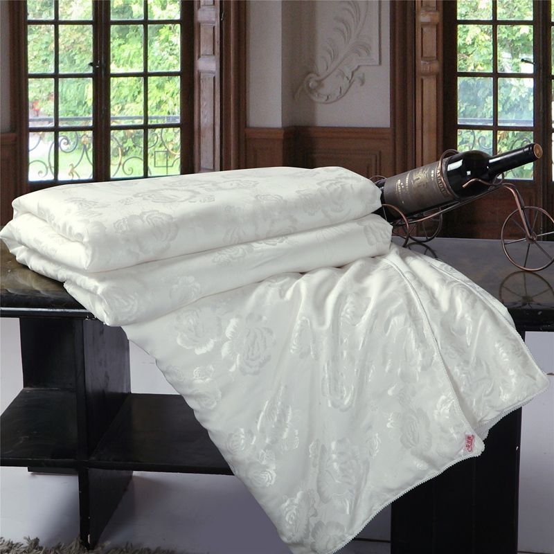 100% couette en soie/couverture/couette/couette pour été et hiver roi reine double taille literie faite à la main couleur blanc/rose livraison gratuite