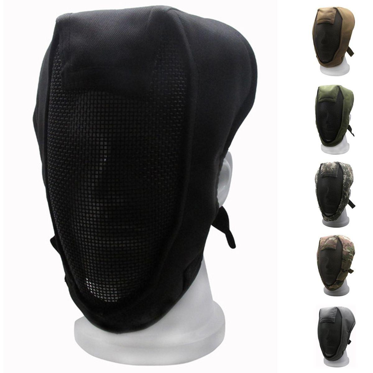 Camouflage Volle Gesicht Fechten Maske Mesh Maske Outdoor Tacktical Schützen Military Maske für Armee Outdoor Paintball Zubehör
