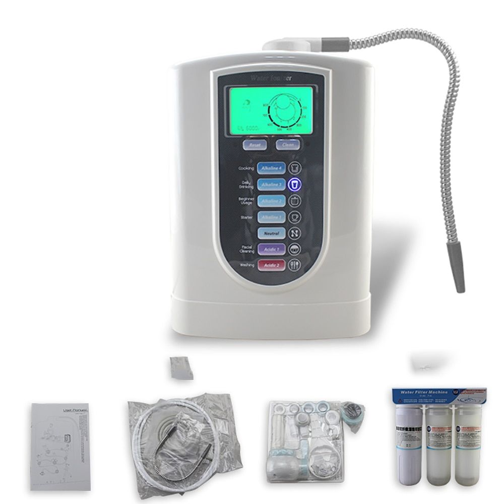 Healthy alkaline water Ionizer machine with Continuous electrolysis system for home use