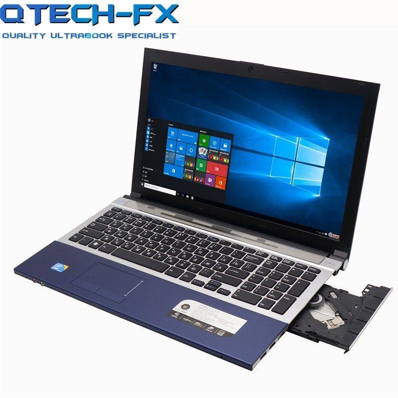 I7 Gaming Laptop 15,6 8 GB RAM SSD 120 GB 240 GB 360 GB DVD Schnelle CPU Metall FHD business Student AZERTY Spanisch Russische Tastatur