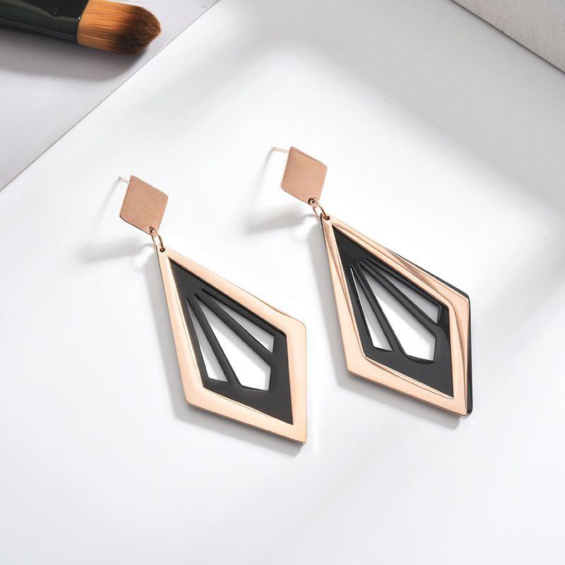 TE femmes en acier inoxydable doré mignon boucles d'oreilles œillets pour filles Animal coeur feuilles chat boucles d'oreilles bijoux minimalistes