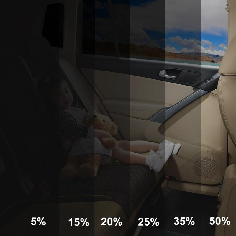 VODOOL 300x50cm VLT Black Car Home Window Glass Tint Tinting Film Roll Auto Side Window Solar UV Protector Sticker With Scraper
