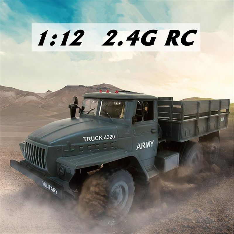 2.4G Remote Control Car Toys 1:12 Scale Soviet Ural Military RC Truck Vehicles USB Charging 6WD OffRoad RTR Car Model Toy Gifts