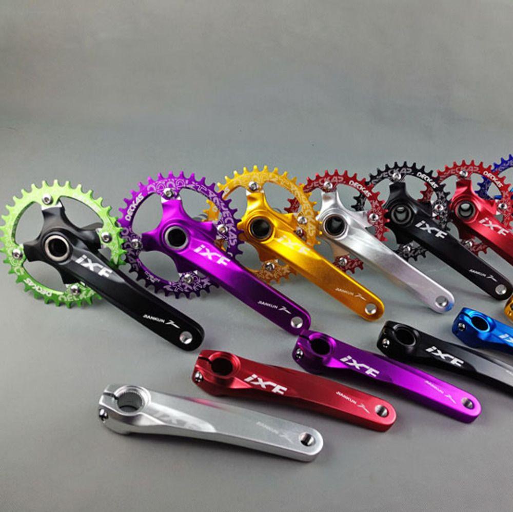 Vtt pédalier vélo creux une manivelle manivelle en alliage d'aluminium pignon montagne vélo cannelé disque vtt pièces de vélo