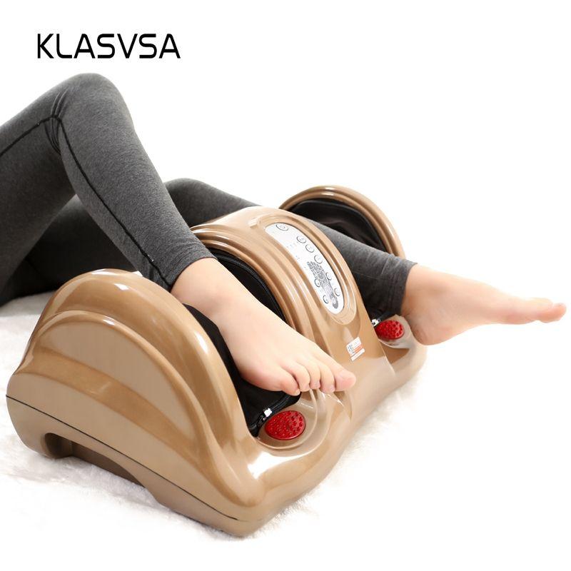 KLASVSA Electric Heating Shiatsu Foot Leg Massager Kneading Gua Sha Reflexology Massage device Muscle Stimulator Home Relaxation