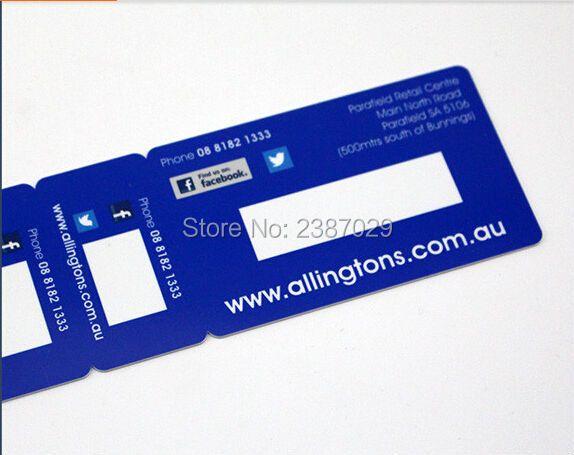 500 stücke Kunststoff Combo Snap-off Keychain Mitgliedschaft Barcode Karte mit 2 Kleinen Schlüssel Tags Karte