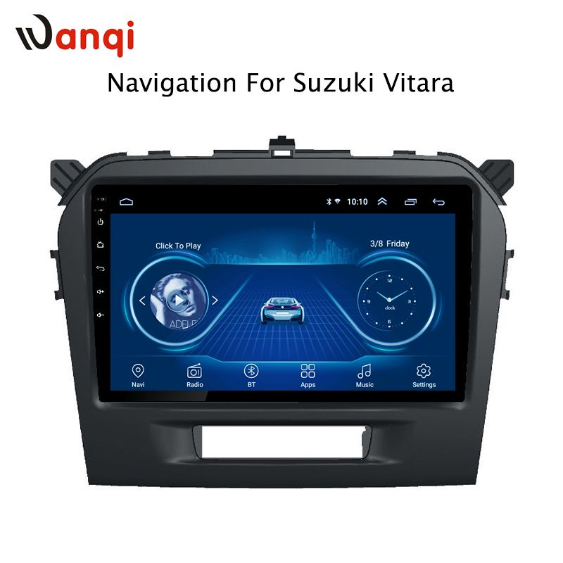 Android 8.1 9 zoll auto navigation für Suzuki Vitara 2015-2016 unterstützung Wifi SWC OBD2 TPMS hinten kamera