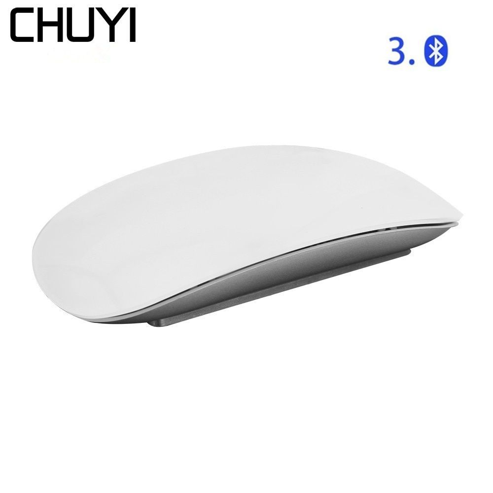 CHUYI Bluetooth Wireless Magic Mouse Slim Arc Touch Mouse Ergonomic Optical USB Computer Ultra-thin BT 3.0 Mice For Apple Mac PC