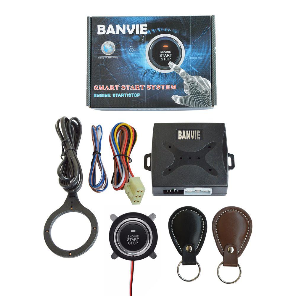 BANVIE Auto Car Alarm Engine Push Button Start Stop RFID Lock System Ignition Switch Keyless Entry Anti-theft starline a91