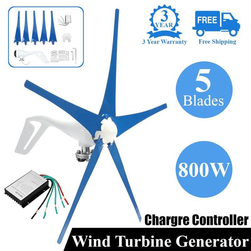 800 W 12/24 V Wind für Turbine Generator Fünf Wind Klingen OptionWind Controller Geschenk Fit für Home + montage zubehör tasche