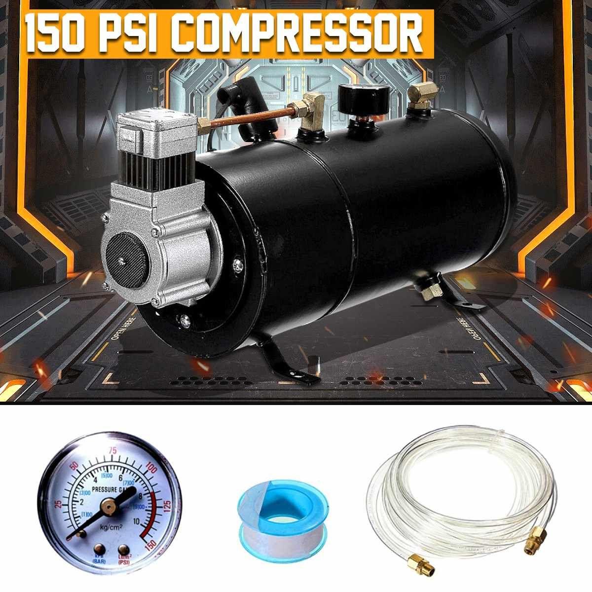 Luft Kompressor 150 PSI 12 V Kompressor Elektrische mit 3 liter Tank Kapazität für Air Horn Zug Lkw Auto Fahrräder reifen H004
