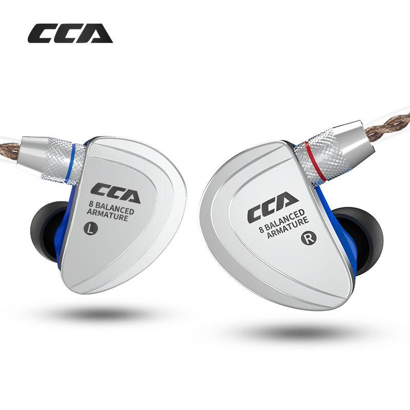 CCA C16 8BA Stick Einheiten HIFI Überwachung Kopfhörer Headset Mit Abnehmbare Detach 2 PIN Kabel In Ohr Kopfhörer 8 Ausgewogene anker
