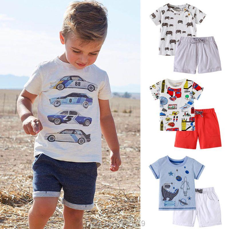 Nouveau 2019 bébé garçons vêtements ensemble qualité 100% coton bambin enfants vêtements à manches courtes bébé garçon vêtements ensemble enfants costume Outwear
