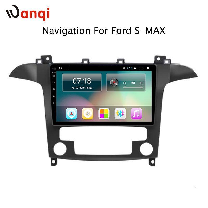 Heißer Verkauf 9 zoll Android 8.1 Auto Dvd Gps-Player Für Ford S-Max Galaxy 2007 2008 eingebaute Radio Video navigation Bt Wifi