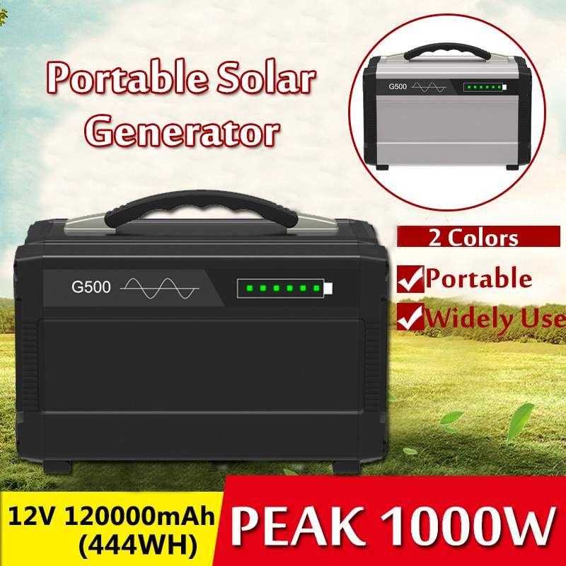 Tragbare 1000 W 120000 mAh Solar Power Lagerung Generator Inverter Outdoor UPS Reine Sinus Welle Power Versorgung USB Energie Lagerung