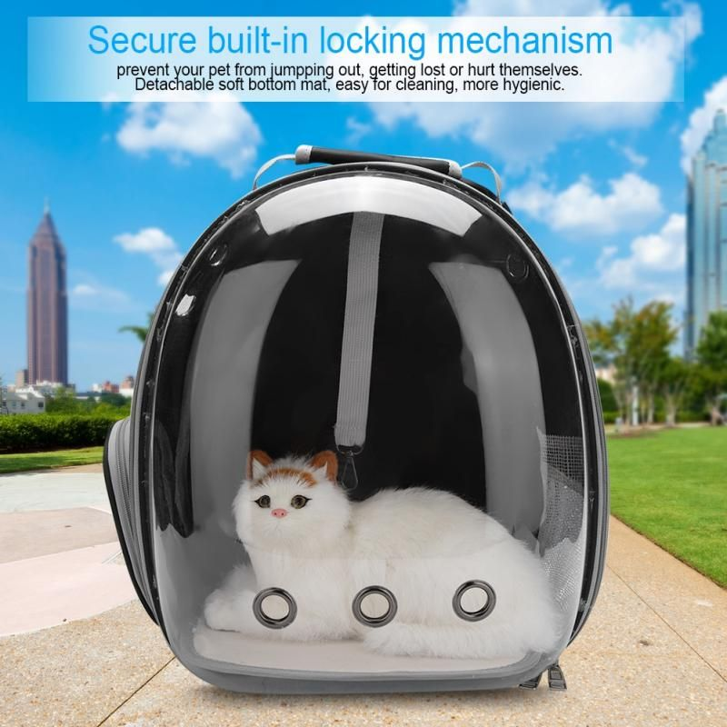 5 Colors Portable Pet Cat Carrier Transparent Capsule Breathable Cat Bag Outdoor Travel Dog Cat Backpack Puppy Carrying Cage