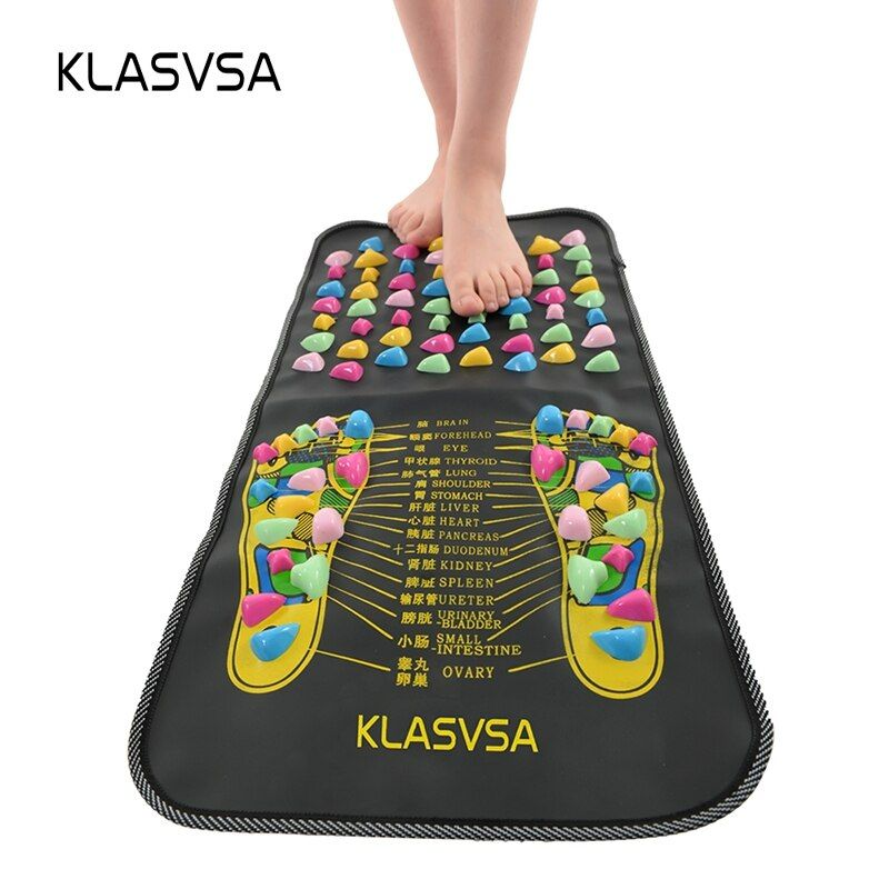KLASVSA Chinois Réflexologie Marche Pierre de massage de La Douleur Soulager Pied Jambe de Soins De Santé Mat Acupression