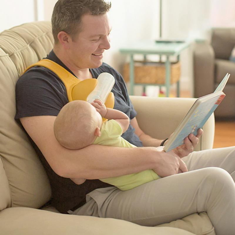 Main libre bébé porte-bouteille librement rotatif sangle laisse alimentation fixation accessoires anti-dérapant Pp bébé alimentation porte-bouteille
