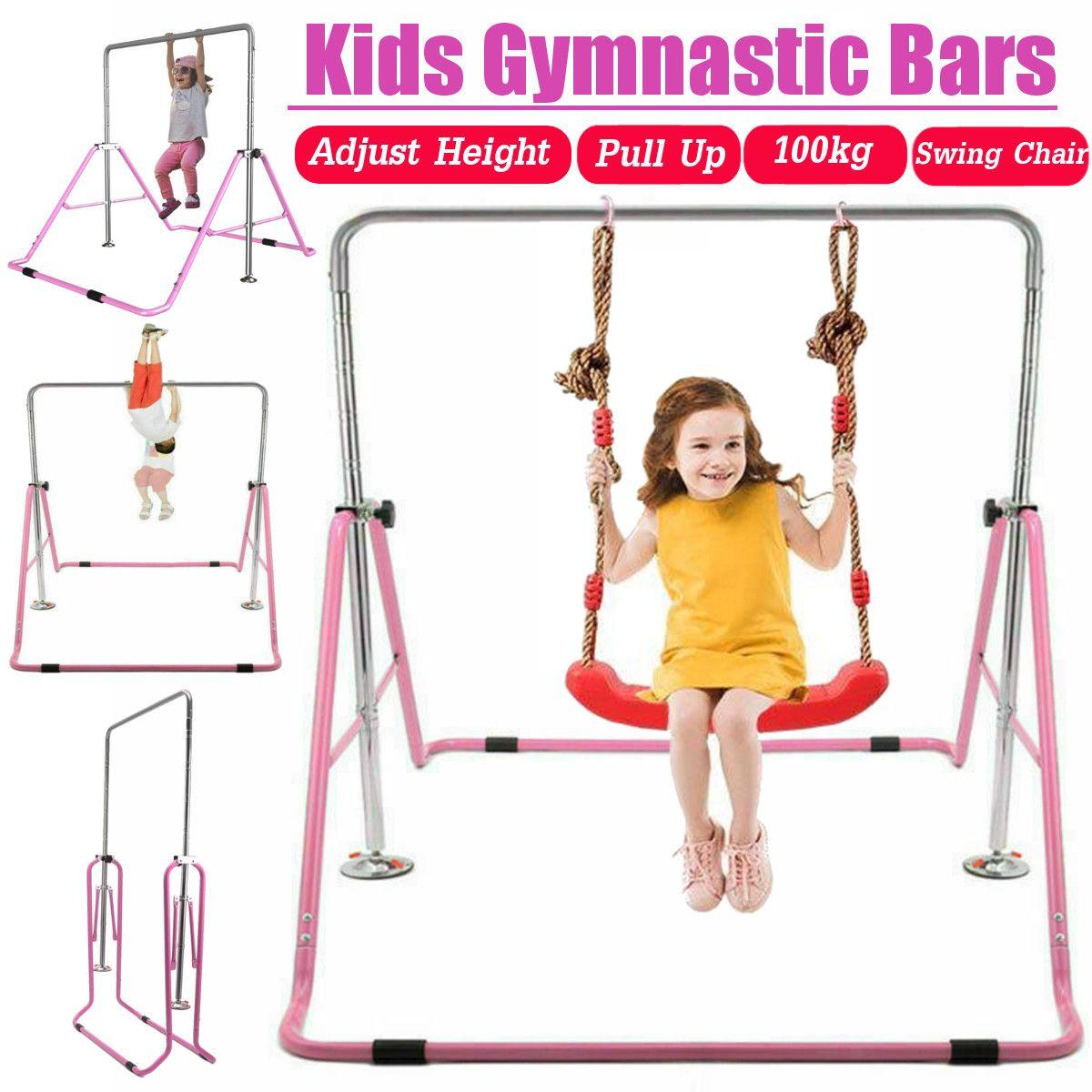 Einstellbare Kinder Horizontale Bars Folding Indoor Kinder Pull-Up Schulter Joint Ausbildung Höhe gym Fitness Ausrüstung