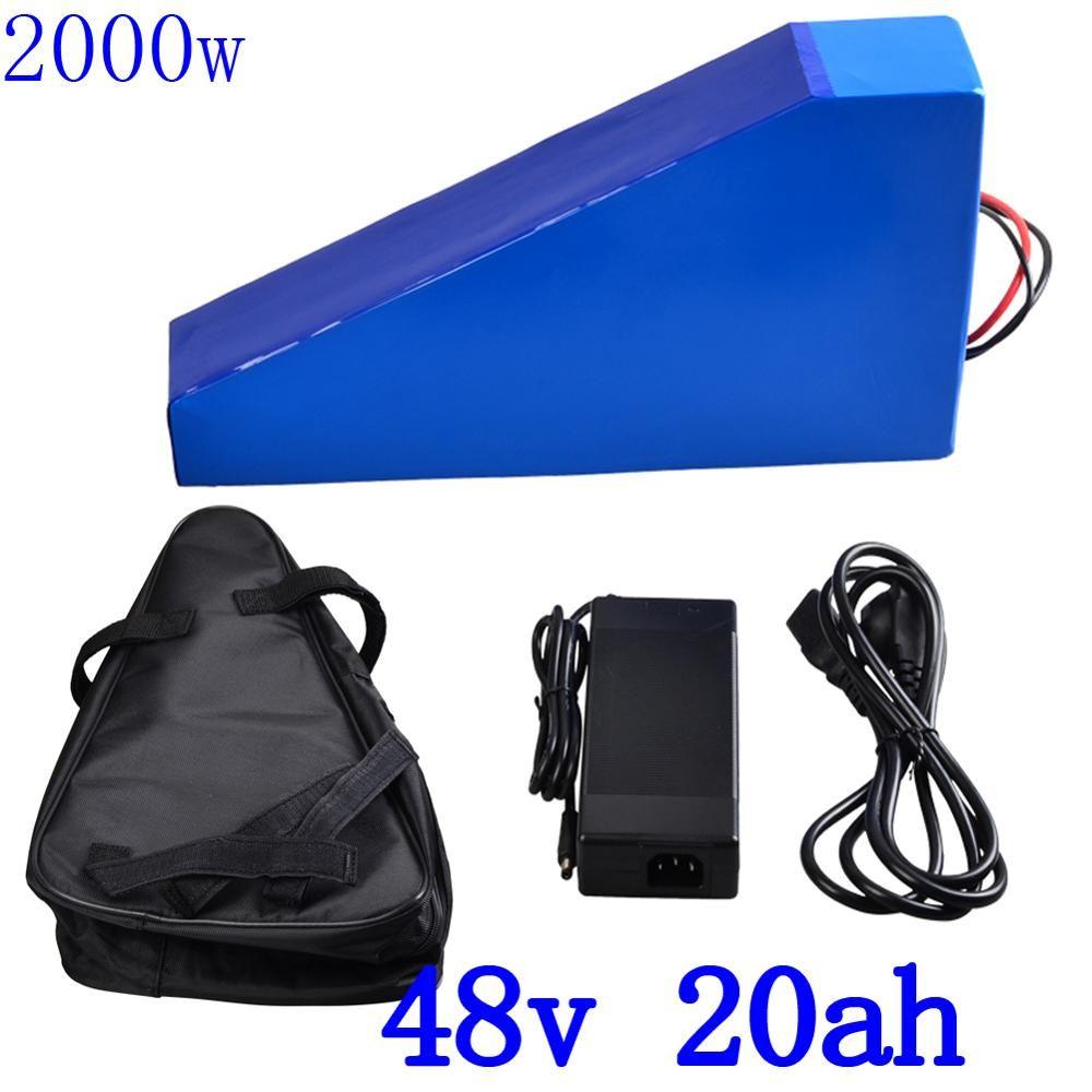 Freies Gewohnheiten Duty 48 V 2000 W Lithium-Batterie 48 V 20AH Ebike Batterie 48 V 20AH Elektrische Fahrrad Batterie mit 50A BMS 54,6 V 2A Ladegerät