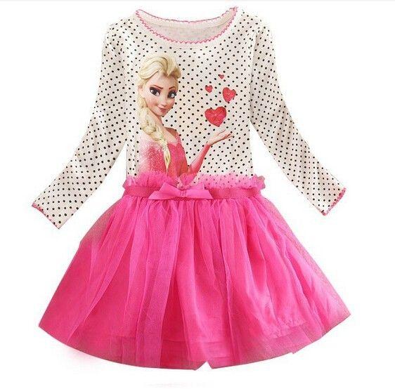 3-8 ans D'été Bébé Fille Robe Princesse Robes Fièvre Anna Elsa Robe Enfants Vêtements Pour Enfants Fête D'anniversaire costume