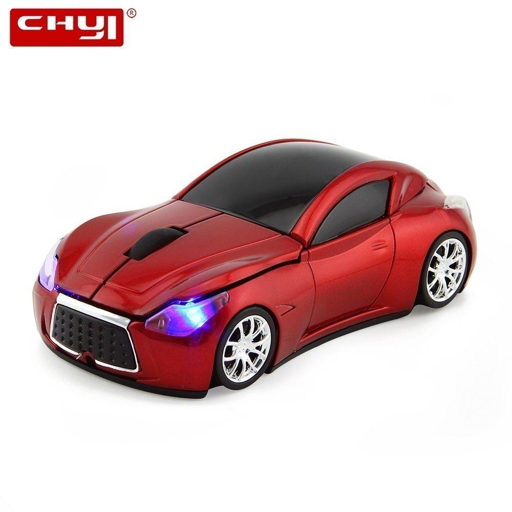 CHYI sans fil Mini voiture souris ergonomique ordinateur optique 2.4Ghz 3D Auto jeu Mause Usb Maus mignon dessin animé souris pour PC ordinateur portable Mac