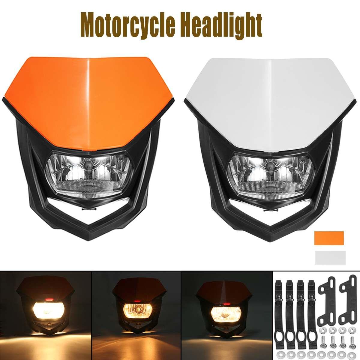 Universal Motorrad 12 V H4 Scheinwerfer Lampen Scheinwerfer Street Fighter Dirt Bike Motorrad Enduro Kopf lampe