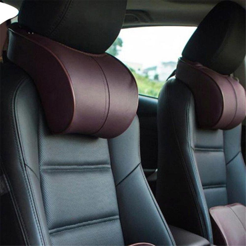 Mémoire coton voiture Auto appuie-tête cou reste sécurité siège soutien voiture tête cou reste oreiller coussin voiture style accessoires